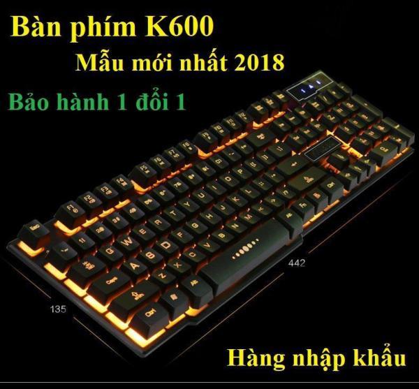 Bảng giá Bàn phím K600 Keyboard - bàn phím cơ game thủ - K600 bàn phím máy tính chơi game siêu nhạy dành cho game thủ, bàn phím có đèn led GD-K600 Có công usb. Phù hợp với nhiều loại hệ điều hành khác nhau, nhiều cấu hình máy của PC, LAPTOP Phong V