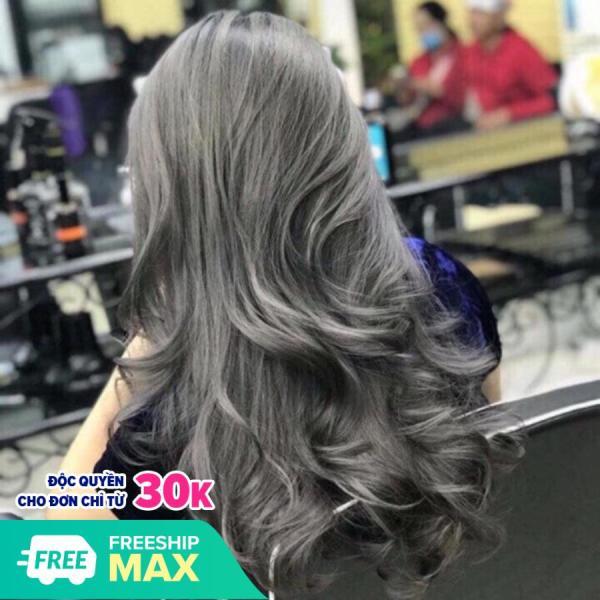 💥Tuýp Nhuộm tóc MAIA Màu xám khói + Trợ OXI + Bột tẩy (Tặng mũ và găng tay )