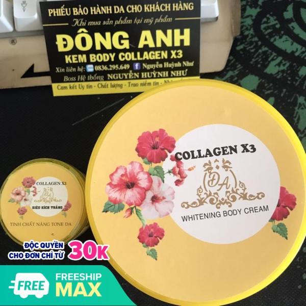Combo Kem body collagen x3 và siêu kích trắng collagen x3 (xịn)
