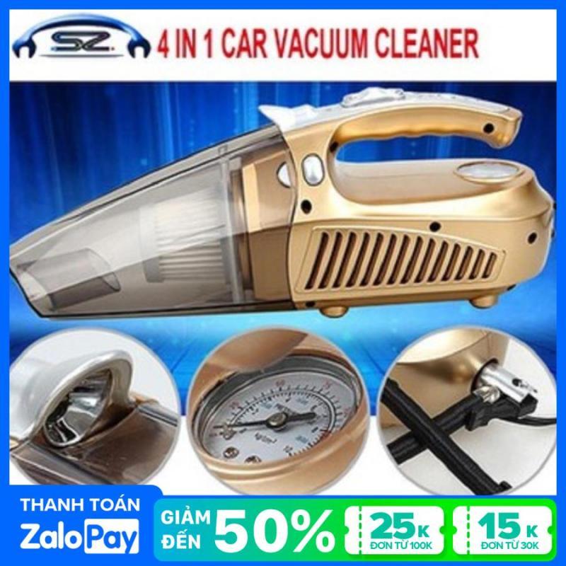 Máy hút bụi Ôtô 4in1-Máy hút bụi xe hơi-Đa chức năng hút bụi,bơm lốp,đo áp suất lốp,đèn pin siêu sáng