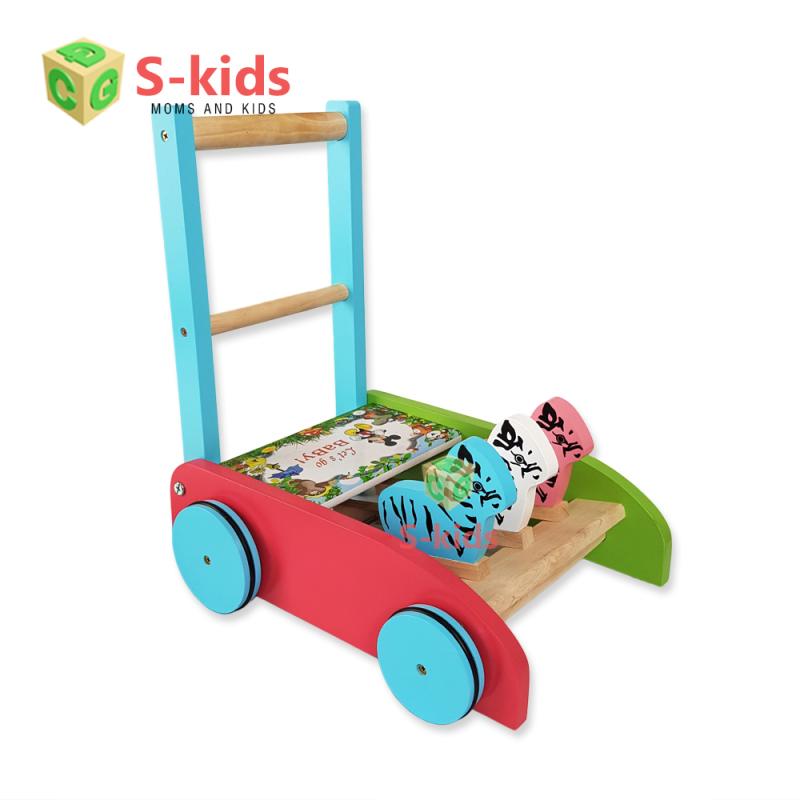 Đồ Chơi Trẻ Em S-Kids - Xe Tập Đi Bằng Gỗ 3 Con Gà, Xe Đẩy Hỗ Trợ Cho Bé Những Bước Đi Đầu Đời