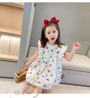 {HÀNG MỚI VỀ} Váy bé gái tim SẮC MÀU cánh tiên siêu xinh- VBG21-tim-sắc-màu