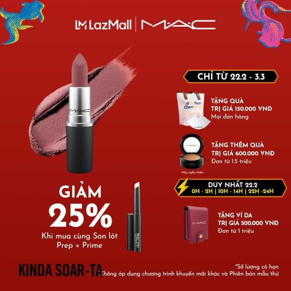 Son môi MAC Powder Kiss Lipstick 3g cao cấp
