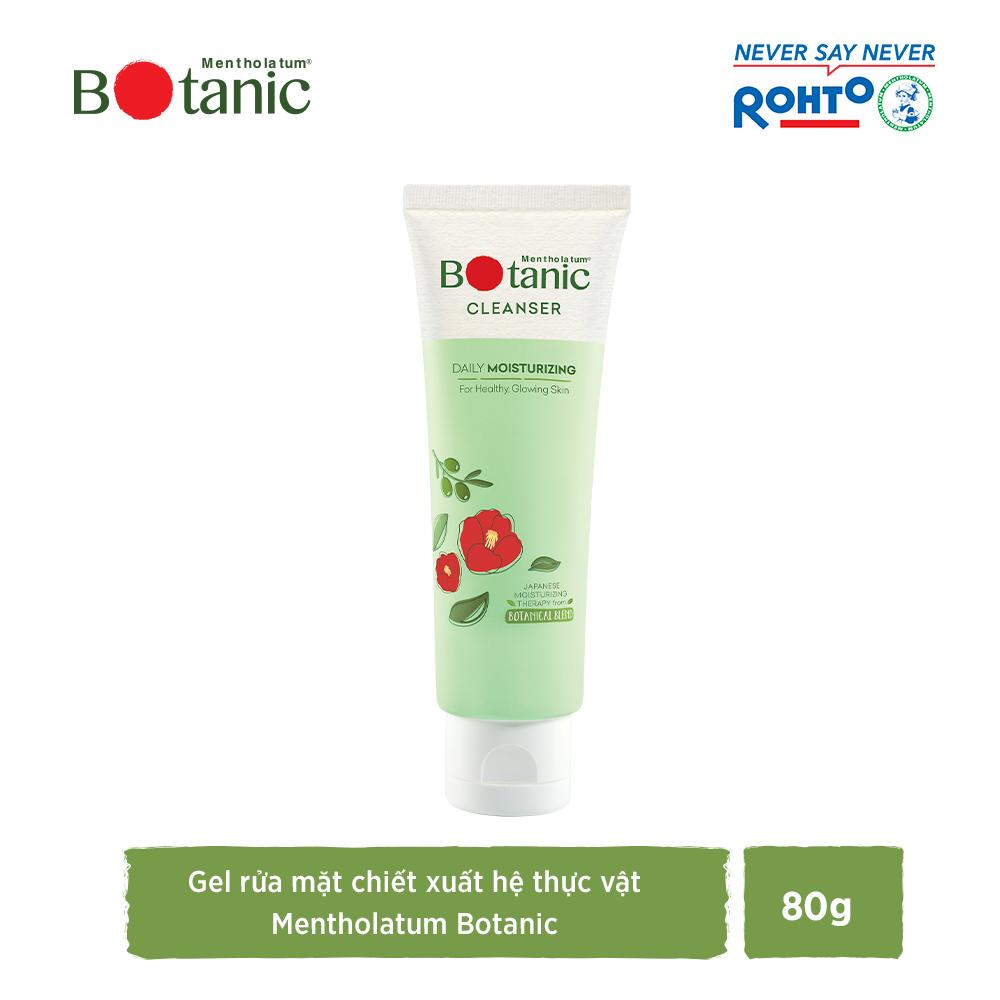 Gel rửa mặt ẩm mịn, sáng khỏe Mentholatum Botanic Cleanser 80g