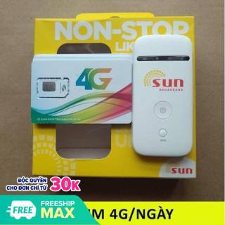 Bộ phát Wifi từ sim 3G 4G ZTE MF65, phiên bản Sun, hàng chuẩn tốc độ cao,tặng siêu sim 4g rung lượng lớn,tha hồ lướt web thumbnail