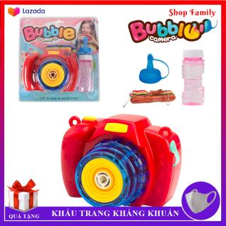 Đồ chơi máy ảnh thổi bong bóng có nhạc siêu dễ thương, món quà đặc biệt giành cho bé thumbnail