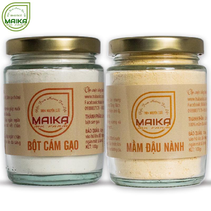 Combo Mầm Đậu Nành + Bột Cám Gạo - Nguyên Chất MK Farm (100g/hũ) giá rẻ