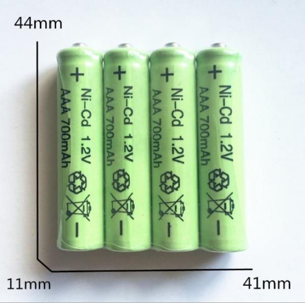 Bảng giá Vỉ 4 viên pin sạc AAA 600 mAh, pin đũa sạc dùng cho điều khiển TV, điều hòa, đồng hồ báo thức,đồ chơi, chuột máy tính...