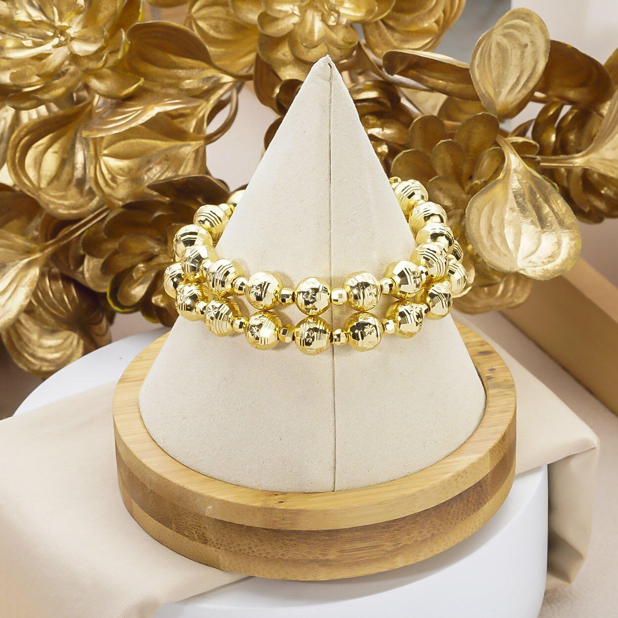 [HCM]Lắc tay nữ mạ vàng thật 18K JK Silver kiểu dáng khắc máy tinh xảo cao cấp giá rẻ U.vong248 - vòng tay siêu khuyến mãi