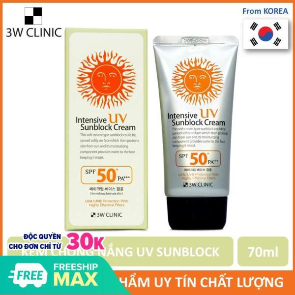 [Siêu Hot] Kem chống nắng 3W Clinic UV Sunblock Cream SPF 50+ PA+++ 70 ml