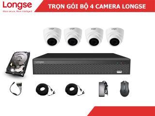 Combo bộ kit Longse 4 mắt dome nhựa 1080P-LITE thumbnail