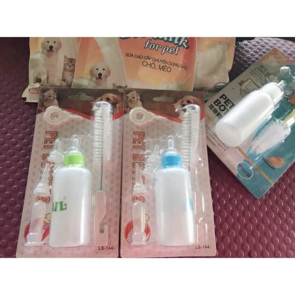 Bình sữa cho chó mèo 4 núm dung tích 60ml bình ti cho chó mèo thú cưng - Channsusu Pet Shop