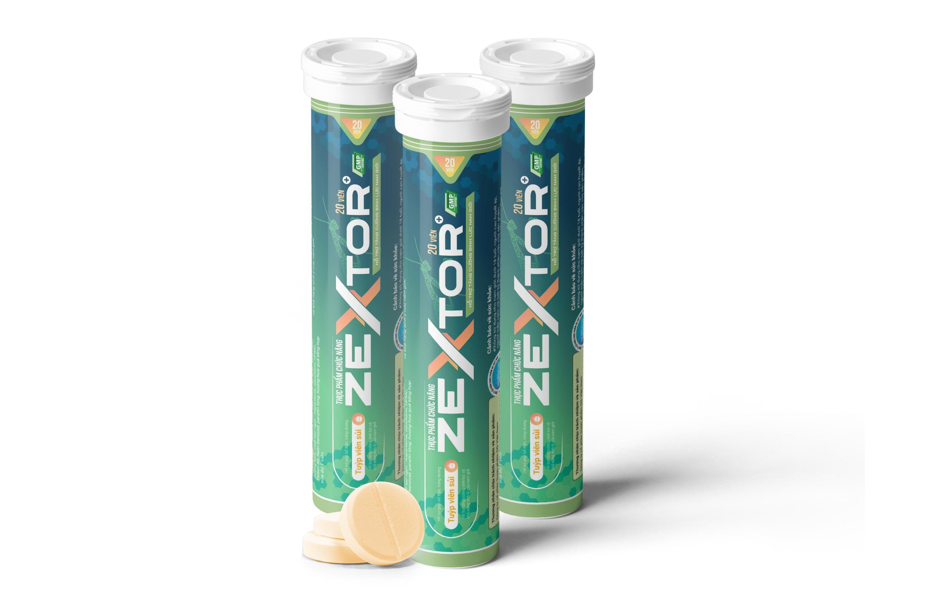 Thực phẩm bảo vệ sức khỏe Zextor Viên sủi hỗ trợ sinh lý Nam cao cấp