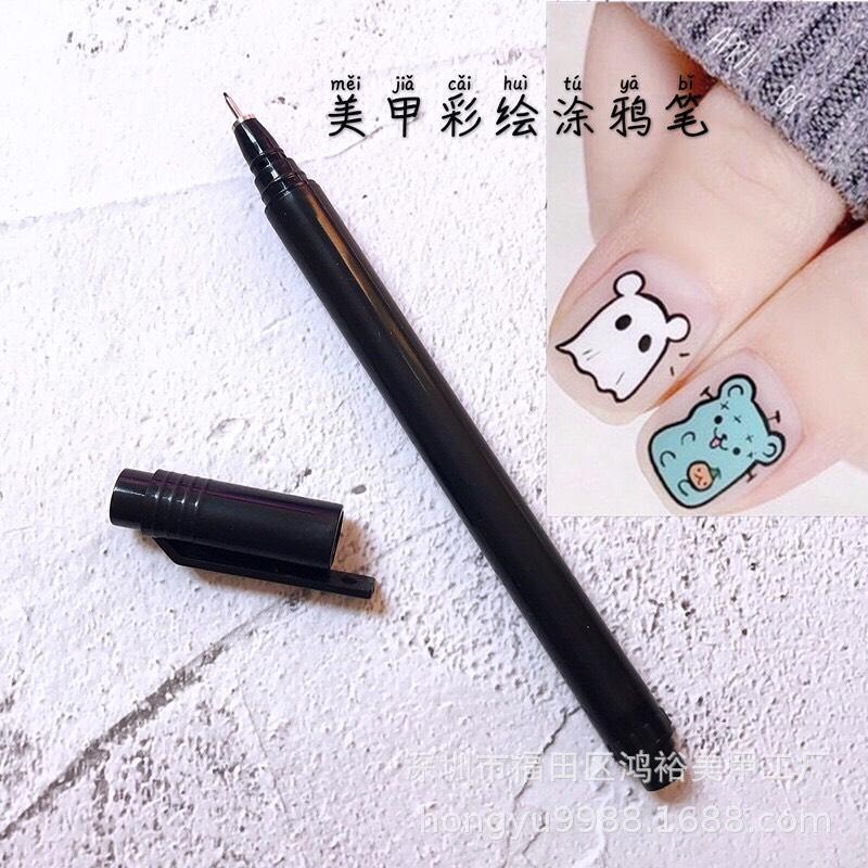 Bút mực vẽ móng tay nghê thuật DIY, bút vẽ trang trí móng nail chuyên nghiệp