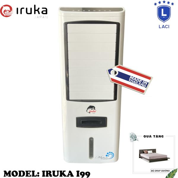 Bảng giá Quạt hơi nước làm lạnh không khí Iruka I99 Made In Thái Lan | Công suất 200W | Màn hình cảm ứng có remote điều khiển | BH 12 Tháng Chính Hãng | Tặng Bộ Drap Giường Ngủ