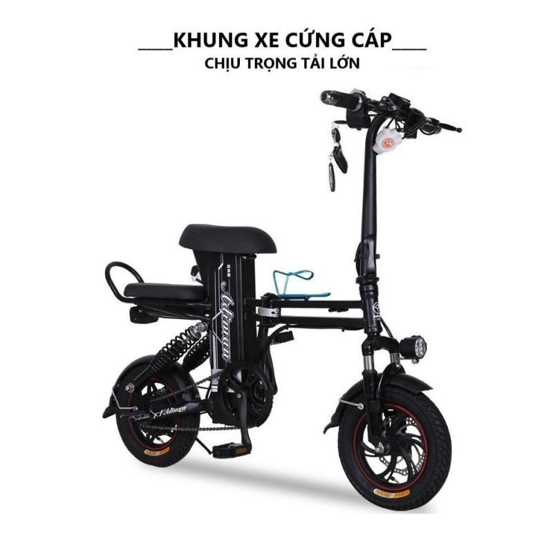 Mua Xe đạp điện gấp gọn  xe điện mini adman  Pin 48v - 8A-35km  Quảng đường đi lên tới 100km