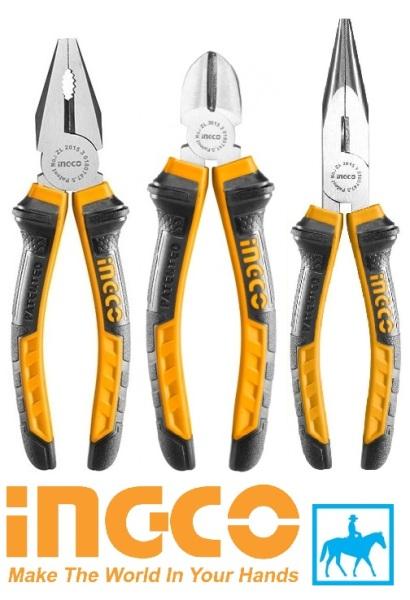 Bộ 3 kìm kềm răng cắt nhọn 6 inch Pliers INGCO
