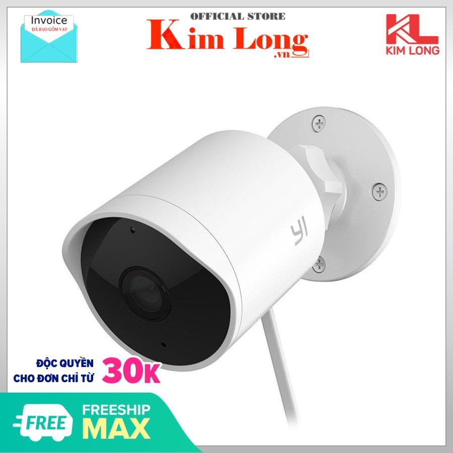 Camera quan sát chống trộm Yi Outdoor 1080P -EU ngoài trời chống nước, xem xa đến 15 mét, Góc rộng 110º - Digiworld phân phối - Bảo hành 12 tháng