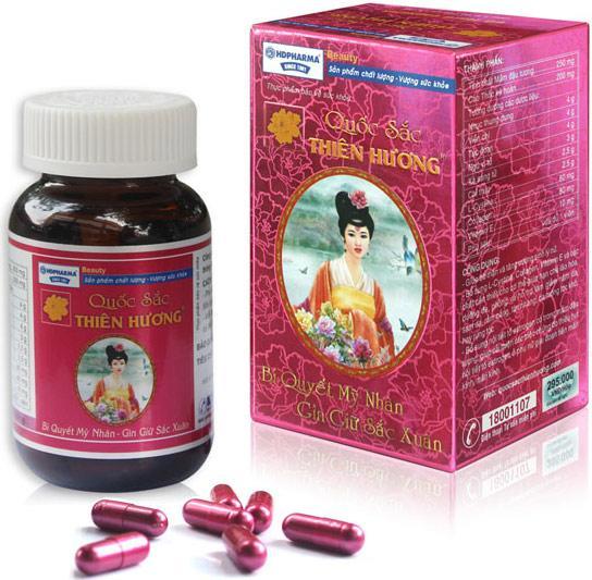Viên uống Quốc Sắc Thiên Hương bổ sung nội tiết tố nữ, hỗ trợ giảm nám sạm da, làm đẹp da 60 viên uống cao cấp