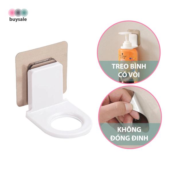 Miếng dán tường treo bình xịt rửa tay, dầu gội, sữa tắm có vòi siêu dính - buysale - BSPK150