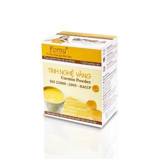 Tinh nghệ vàng Forny 50g -(10 gói 5g) (Hộp giấy) (Đặc biệt phù hợp với người viêm loét dạ dày, phụ nữ sau sinh hồi phục sức khỏe và sắc đẹp, người sử dụng rượu bia thường xuyên, tốt cho hệ tiêu hóa) (tinh bột nghệ) (Tinh bột nghệ nguyên chất) thumbnail