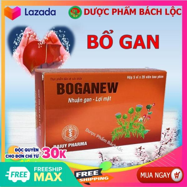 Bổ Gan Boganew - Giúp Thanh Nhiệt, Giải Độc , Mát Gan- Hộp 100 viên- HSD 2023 giá rẻ