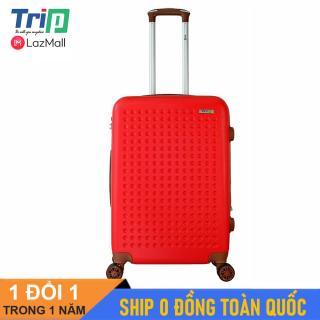 [Hỗ trợ phí Ship] Vali TRIP P803A Size 24inch ( Màu đỏ) - Vali TRIP size ký gửi hành lý, đựng 20kg, dây kéo nới rộng thêm thể tích ngăn hành lý thumbnail