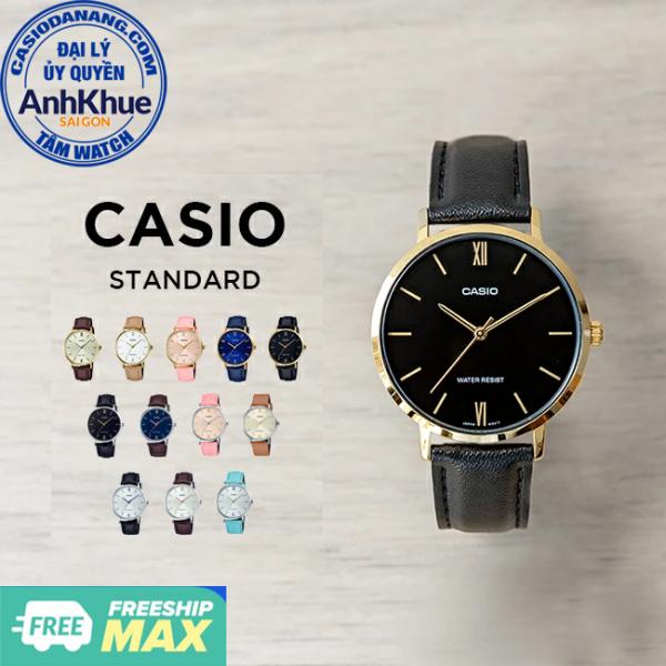 Đồng hồ nữ dây da Casio Standard chính hãng Anh Khuê LTP-VT01 Series (34mm)