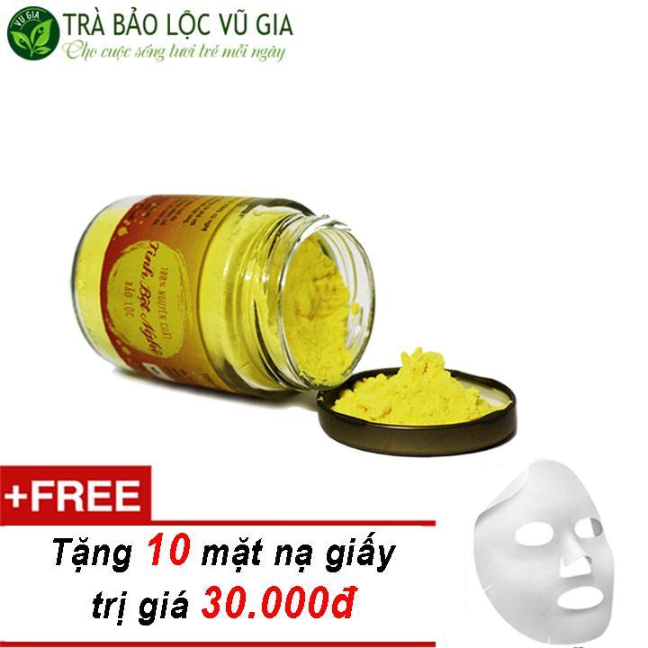 Tinh Bột Nghệ Nguyên Chất Bảo Lộc VG Farm  (100gr/hũ) + Tặng 10 Mặt Nạ Giấy Đắp Mặt ( trị mụn trứng cá )_[ Đã được kiểm nghiệm y tế ]