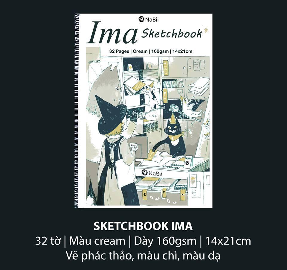 Mua Sổ NaBii IMA Sketchbook 160gsm kích thước  14x21 cm (32 Tờ) A5