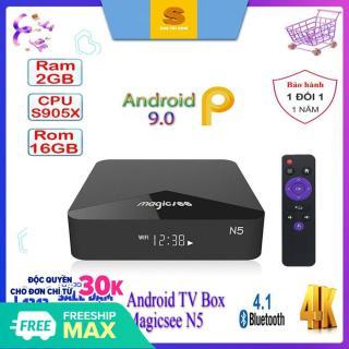 Android tivi box Magicsee N5 - Chip S905X siêu khủng - Android 9.0 - Ram 2GB - Rom 16GB - Xem truyền hình miễn phí thumbnail