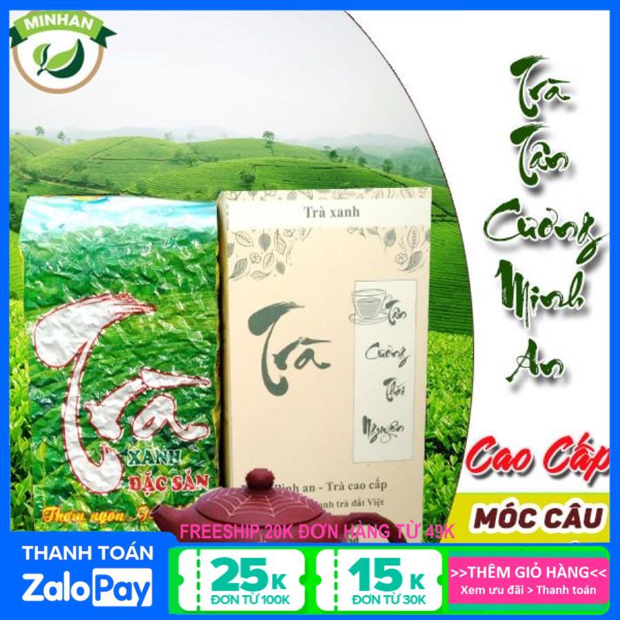 Hộp trà Bình An Thái Nguyên Tân Cương loại 1 - xanh sạch hộp giấy 200g - Minh An greentea