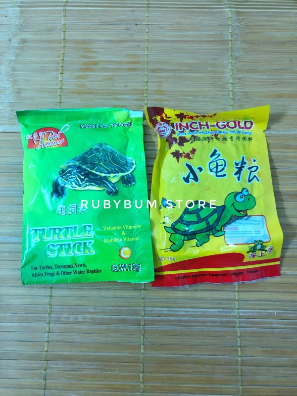 Set 2 gói thức ăn rùa Incher Gold và Turtle Stiker
