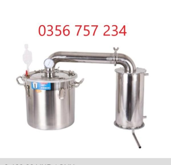 Nồi chưng cất tinh dầu, nồi nấu rượu 20 lít- 30 lít -70 lít gồm phễu và giá