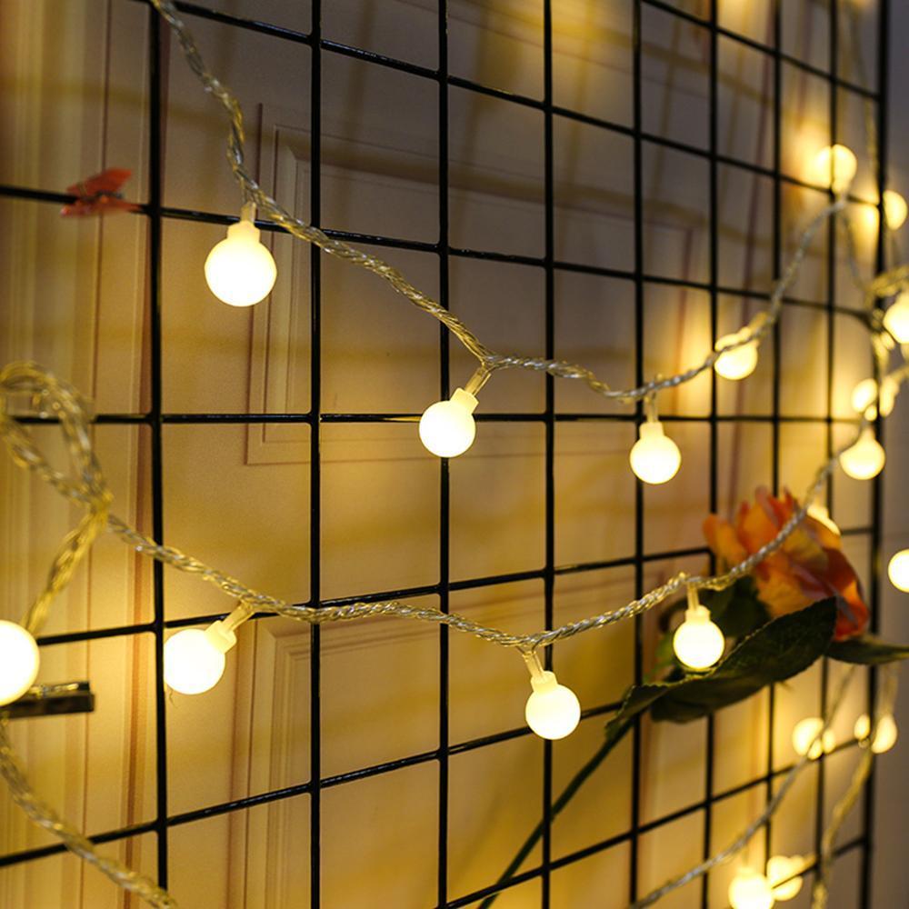 Dây led  nháy Nhiều màu hình bóng đèn mini - 4m - 16 bóng KamiHome