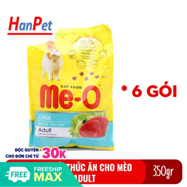 HPKM-  Me-O Adult Combo 6 gói vị cá ngừ 350gr -Thức ăn cho mèo lớn đã trưởng thành trên 1 tuổi