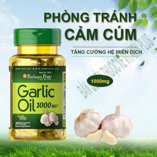 Dầu tỏi Garlic oil 1000mg của Mỹ tốt hơn 100 lần tinh dầu tỏi diep chi tăng cường hệ miễn dịch, phòng ngừa cảm cúm, giảm cholesterol, xơ vữa động mạch, Vitamin Mỹ Puritan s Pride 10 viên dùng thử 2