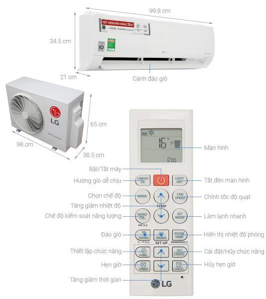 Máy lạnh LG Inverter V24ENF (2.5Hp)