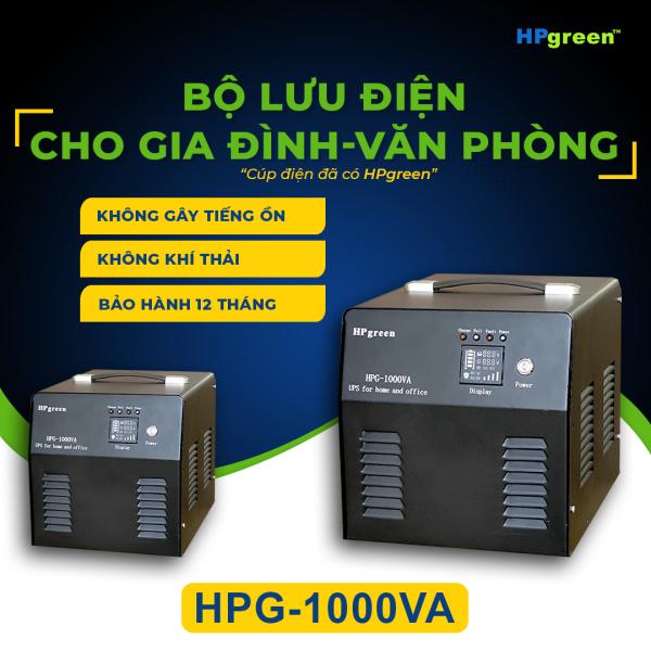 Bộ lưu điện cho gia đình văn phòng Hpgreen HPG-1000VA Thay thế cho máy phát điện.