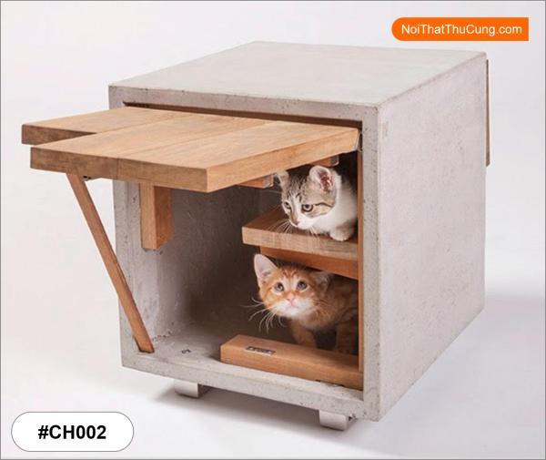 Nhà Gỗ Phong Cách Hiện Đại Cho Mèo CH002