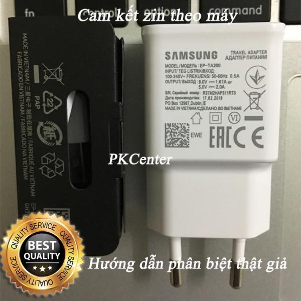 Giá Trọn bộ Sạc nhanh cho Samsung S10, Note 9 phiên bản 2020 (màu đen nhám và trắng nhám)  và Cáp USB Type C zin máy Samsung phiên bản 2020 (màu đen nhám và trắng nhám) - Phân biệt thật giả bởi PKCenter