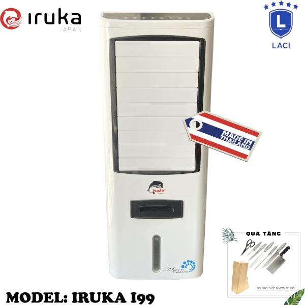 Bảng giá Quạt hơi nước làm lạnh không khí Iruka I99 Made In Thái Lan | Công suất 200W | Màn hình cảm ứng có remote điều khiển | BH 12 Tháng Chính Hãng | Tặng Bộ Dao Làm Bếp 8 Món