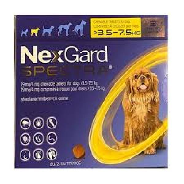 NexGard Spectra Small Dogs 3.6-7.5 kg
