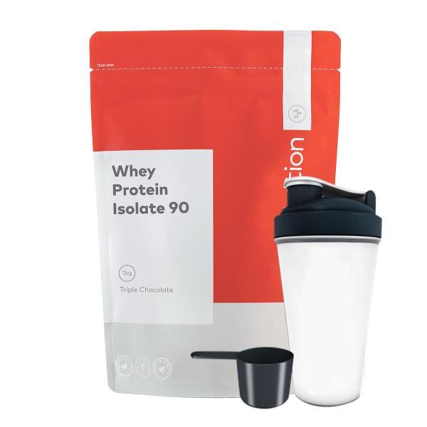 Combo Sữa tăng cơ - Whey isolate 90 - Go Nutrition - 1kg 40 lần dùng & Bình lắc 700 ml