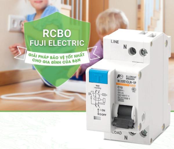 CB chống giật 2P 32A RCBO Fuji Electric Nhật Bản