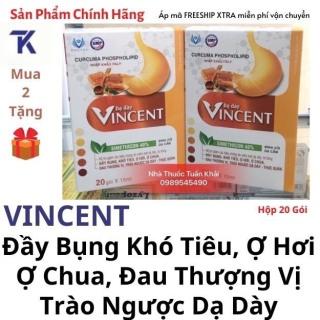 Dạ Dày Vincent Đầy Bụng Khó Tiêu, Ợ Hơi, Ợ Chua, Đau Thượng Vị, Trào Ngược Dạ Dày - Hộp 20 Gói thumbnail