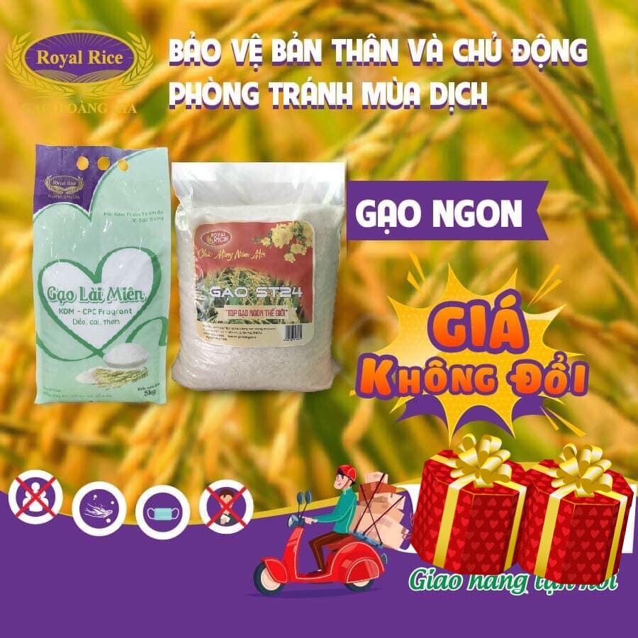 Voucher tại Lazada cho (5kg) Gạo ST 24 - Royal Rice - 99.9% Thuần Chủng