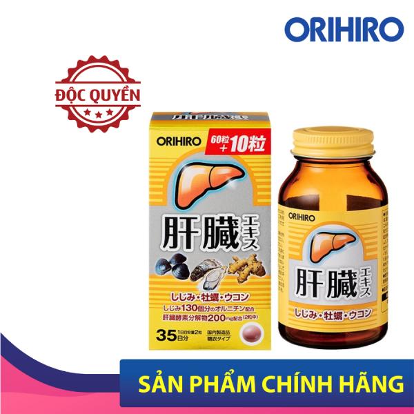 Viên uống bổ gan Shijimi Orihiro Nhật Bản giúp giải độc gan, tăng cường chức năng gan, 70 viên/hộp