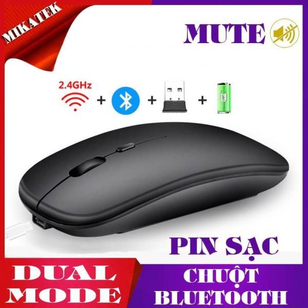 Giá Chuột Không Dây Bluetooth và 2.4G có Sạc Pin, Click Không Âm Thanh, Màu Sắc Đa Dạng, Thiết Kế Thông Minh Tiện Dụng