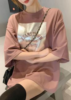 [Ke m video thâ t] A o thun nữ, ao thun nu, áo thun nữ form rộng giấu quần REAMSTOWN mẫu Hot nhất năm nay thumbnail